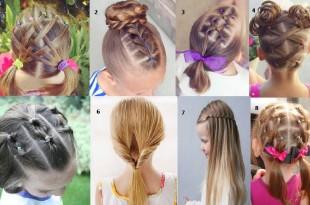 Peinados para cabello corto de nina recogido