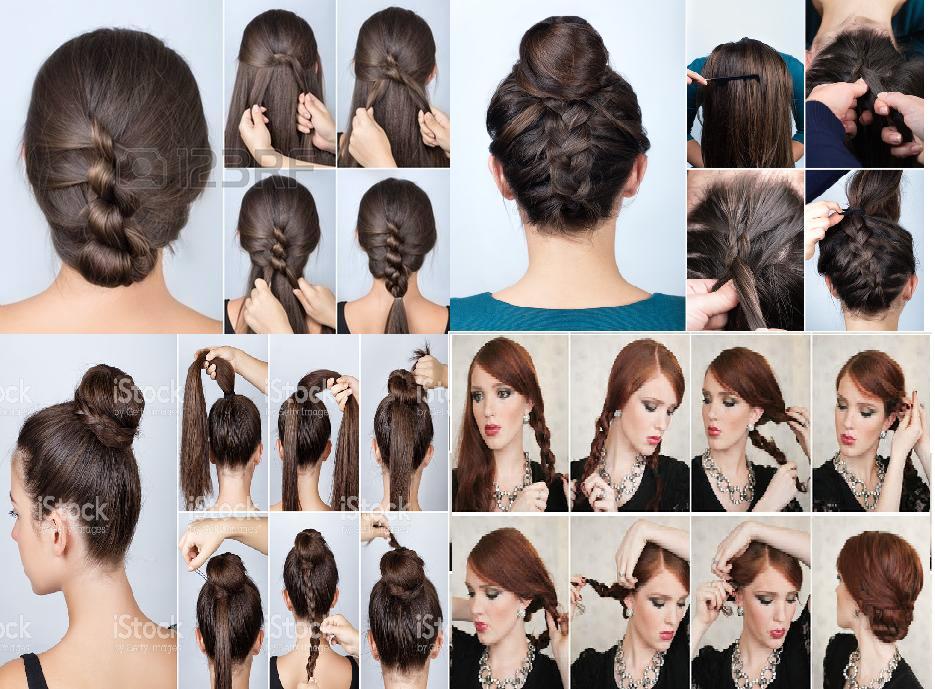 Peinados trenzados cabello recogido