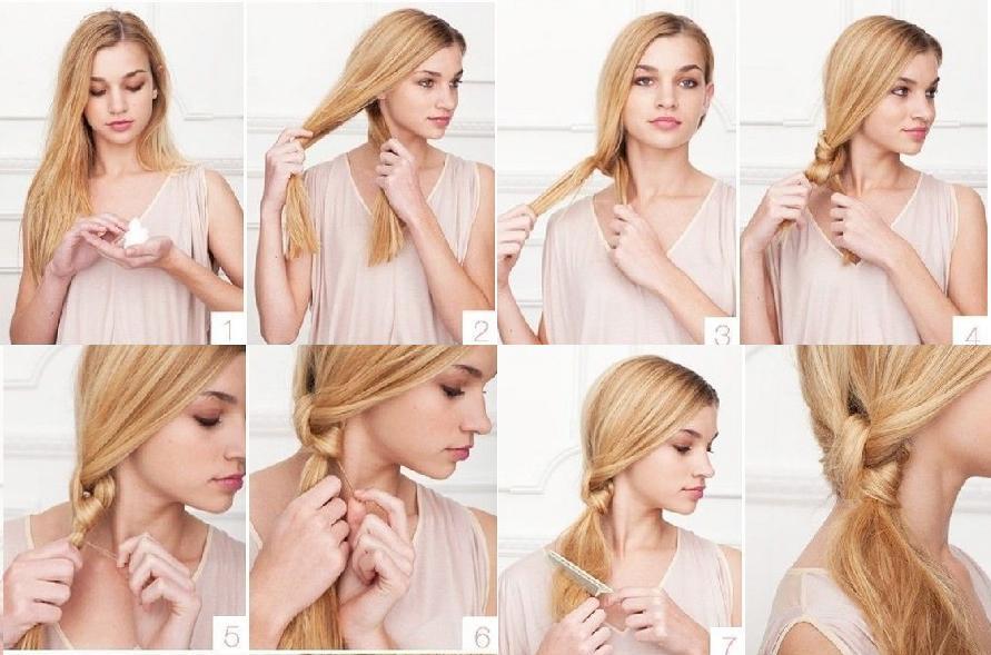 Peinados cabello largo fiesta día