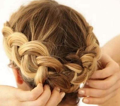 cabellos cortos con trenzas