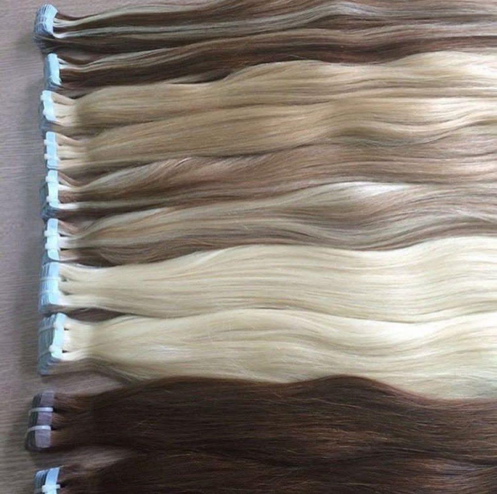 extensiones adhesivas para el cabello