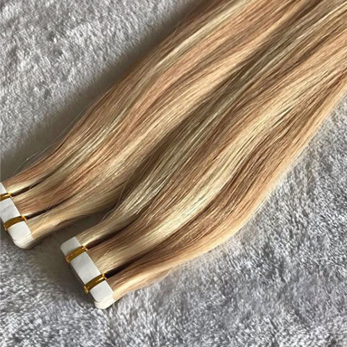 extensiones adhesivas de pelo natural